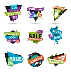 Super sale banner set Paper cat design vector image vector image