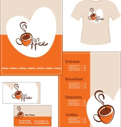 cafe identity vector image vector image