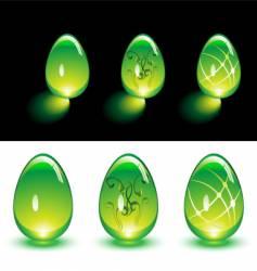glass eggs vector image
