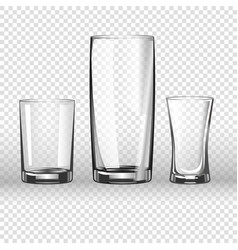glass glassware 3d realistic isolated icons vector image