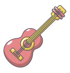 guitar icon cartoon style vector image vector image