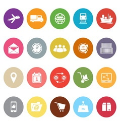 Logistic flat icons on white background vector image vector image