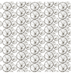 seamless pattern with dandelions stylized vector image