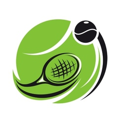 Stylized tennis icon vector image vector image