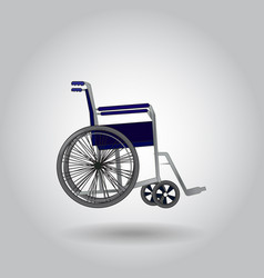 wheelchair on grey background vector image