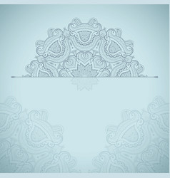 background with round lace oriental pattern vector image vector image