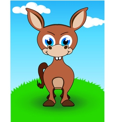 donkey cartoon vector image vector image