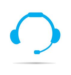 headset icon on white background headset symbol vector image