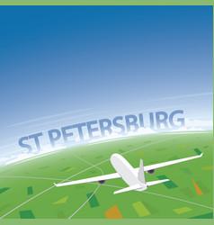 saint petersburg flight destination vector image vector image
