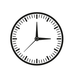 clock of time icon vector image vector image
