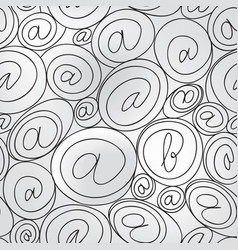 e-mail sign seamless background email or spam vector image vector image