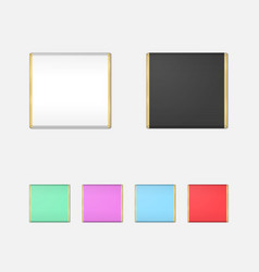 Realistic Chocolate Bar Packaging Mockup Set vector image