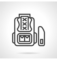 School knapsack icon line style vector