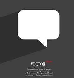 speech bubble Chat think icon symbol Flat modern vector image