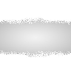white snow on gray design for merry christmas vector image
