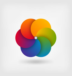 Abstract circle symbol in rainbow colors vector