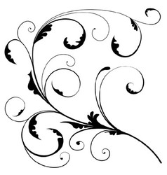 Abstract Floral Branch vector