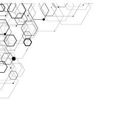 abstract hexagonal structures vector image