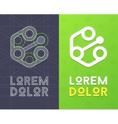 Abstract icon for company with scheme vector