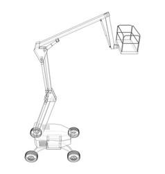 Aerial platform concept outline vector