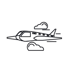 airplane travel isolated icon vector image