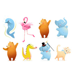 Baby animals collection for kids nursery design vector