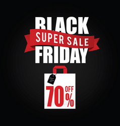 balck friday with paper bag sale color vector image