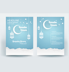 Beautiful ramadan kareem flyer brochure poster vector
