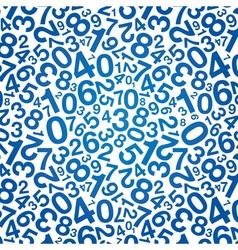 blue number background vector image vector image