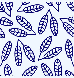 Blue seamless pattern with blue flowers vector