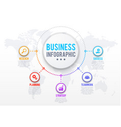 business infographics with presentation step chart vector image