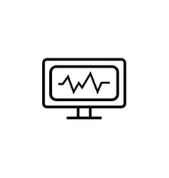 cardiogram icon black vector image