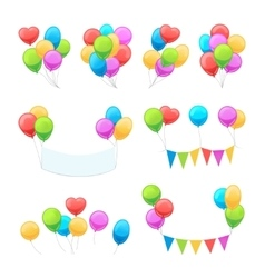 Cartoon balloon set vector