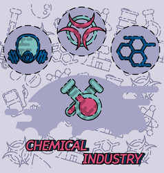 chemical industry flat concept icon vector image