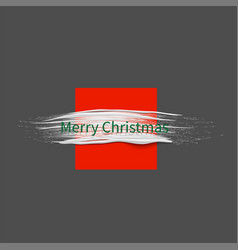 christmas background with white paint brush vector image