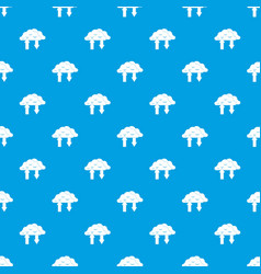 clouds with arrows pattern seamless blue vector image