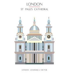 colorful london landmark 1 vector image