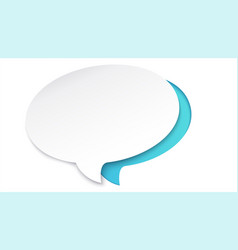 Colorful paper speech bubble cut out from paper vector