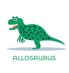 cute dinosaur allosaurus cartoon drawn for tee vector image