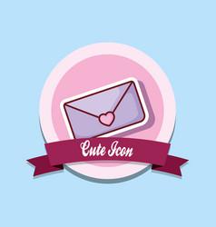 cute icon design vector image