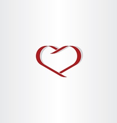 dark red heart symbol love icon element vector image
