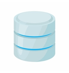 Database of network icon cartoon style vector