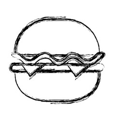 Delicious hamburger fast food vector