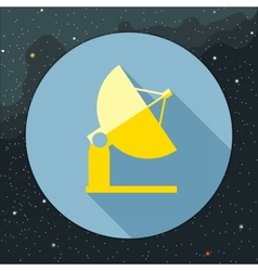 Digital with yellow space antenna icon vector image