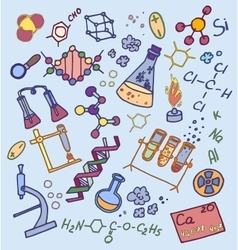 Doodle vektor chemistry vector