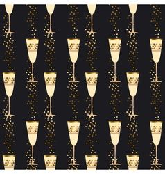 elegant light seamless pattern with sparkling wine vector image