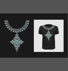 ethnic t shirt print design ukrainian vector image