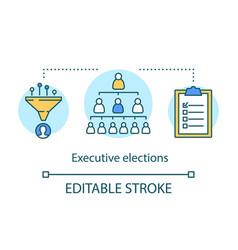 Executive elections concept icon branch vector