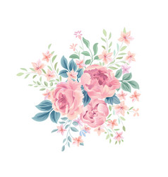 floral background flower rose bouquet flourish vector image