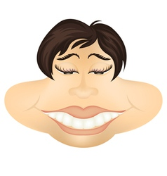 Funny face cartoon vector image